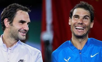 Roger Federer e Rafael Nadal. Getty Images