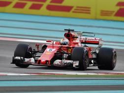 Sebastian Vettel ad Abu Dhabi. Af