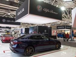 Lo stand dell'Alfa Romeo al Motor Show 2017