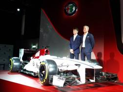 Charles Leclerc e Marcus Ericsson, piloti dell'Alfa Romeo Sauber F1 Team