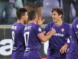 L'esultanza della Fiorentina. LaPresse