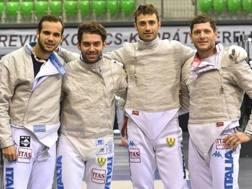 Luca Curatoli, Luigi Samele, Enrico Berrè, Aldo Montano