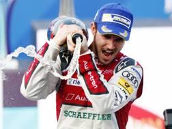 Daniel Abt aveva festeggiato così la vittoria prima della squalifica. Getty