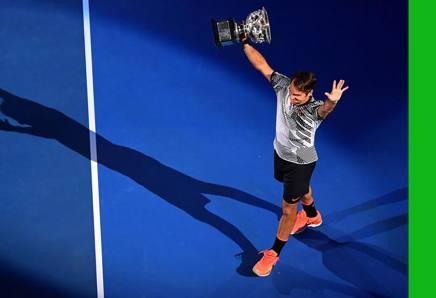Roger Federer a Melbourne