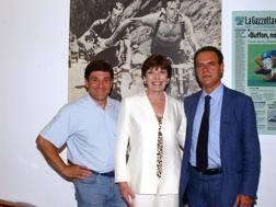 Giovanna Carnera in Gazzetta fra Redaelli (sinistra) e Di Rosa