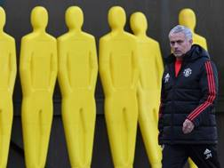 José Mourinho, tecnico United. Afp