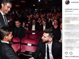 La foto che Ronaldo jr avrebbe postato su Instagram.