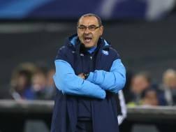 Maurizio Sarri, 58 anni, allenatore Napoli. AP