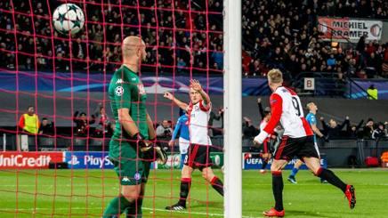L'esultanza del Feyenoord. Afp