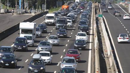 Traffico su un'austostrada italiana