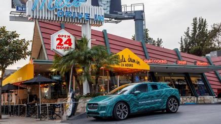 Il prototipo Jaguar impiegato per il test californiano