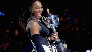 Serena Williams, 36 anni, lo scorso anno dopo il trionfo di Melbourne. Ipp