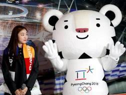 La mascotte di PyeongChang, la tigre Soohorang. Reuters