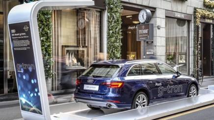 Audi protagonista in via Montenapoleone a Milano