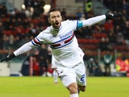 Fabio Quagliarella, decisivo contro il Cagliari e autore di una doppietta Ansa