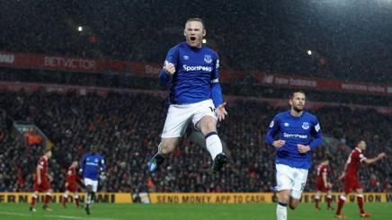 L'esultanza di Wayne Rooney dopo l'1-1. Action Images