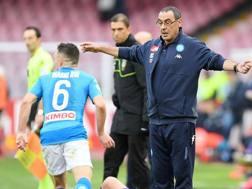 Maurizio Sarri, tecnico del Napoli. Getty