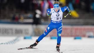 L'azzurro Lukas Hofer. Ipp