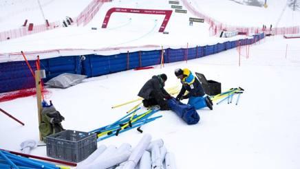 A St. Moritz si smonta tutto. Epa