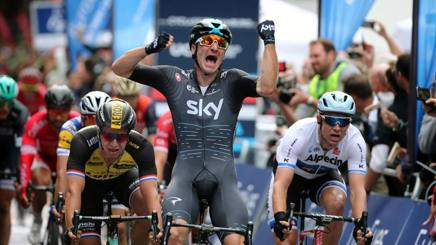 Elia Viviani, 28 anni, qui primo ad Amburgo. Getty Images