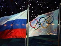 Le bandiere russa e del Cio