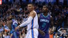 Russell Westbrook: non sono bastati i suoi 30 punti ai Thunder. Reuters