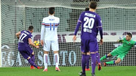 Veretout trasforma il primo dei due rigori che portano la Fiorentina ai quarti di coppa Italia. Lapresse