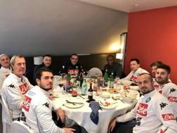Vieira e Baiano a pranzo con Sarri e lo staff del Napoli Twitter