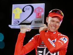 Chris Froome, 32 anni, vincitore nel 2017 di Tour e Vuelta. Ap