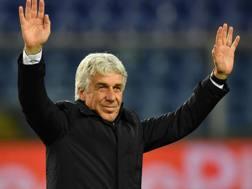 Gian Piero Gasperini (59) alla seconda stagione sulla panchina dell'Atalanta. GETTY IMAGES