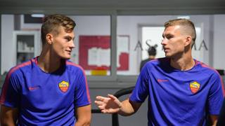 Patrik Schick (21) ed Edin Dzeko (31). LAPRESSE