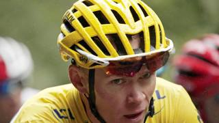 Christopher Froome . 32 anni, durante il Tour de France. Epa