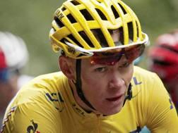 Christopher Froome . 32 anni, durante il Tour de France. Epa