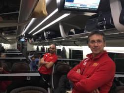 I tecnici di Vibo in attesa sul treno a Roma