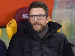 Eusebio Di Francesco (48), alla prima stagione sulla panchina della Roma. LAPRESSE