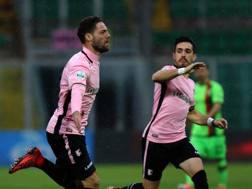 L'esultanza di Andrea Rispoli, 29 anni. per il gol vittoria sulla Ternana. Lapresse