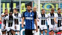 Esultanza Udinese a Milano. Ansa