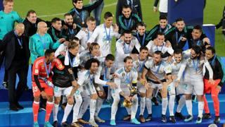 La gioia del Real Madrid campione del mondo. Reuters