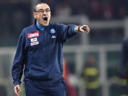 Maurizio Sarri, tecnico del Napoli. Ansa
