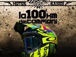La locandina della 100 km dei campioni al Ranch di Rossi