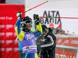 Matts Olsson festeggia in Alta Badia
