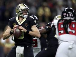Drew Brees, 3° QB di sempre sopra le 70.000yds lanciate in carriera. Ap