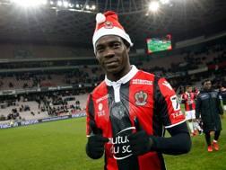 Mario Balotelli, 27 anni, seconda stagione al Nizza. Afp