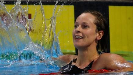 Federica Pellegrini, 29 anni, votata atleta dell'anno per i 159 redattori del nostro giornale AFP
