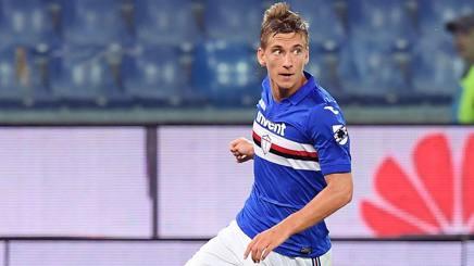 Dennis Praet, centrocampista della Sampdoria. Lapresse