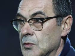 Maurizio Sarri (58 anni), alla terza stagione sulla panchina del Napoli. GETTY IMAGES