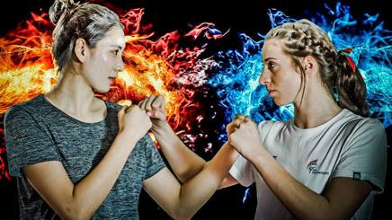 Shuyin Zheng e Bianca Walkden. worldtaekwondo.org
