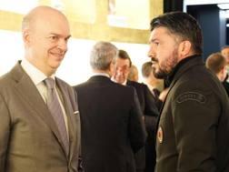 L'a.d. Marco Fassone (53) con il tecnico Gennaro Ivan Gattuso (39). LAPRESSE