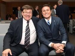 Daniele Redaelli con Javier Zanetti. Bozzani