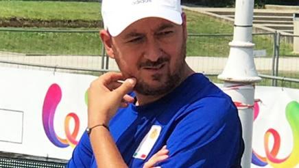 Riccardo Capaccioni, 42 anni., c.t. delle nazionali senior  Petanque